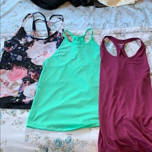 Old Navy three pack athletic tank tops
